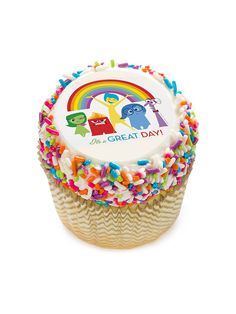 """Inside Out 2"""" Edible Cupcake Topper (12 Images) - Cooking Kits & Activities & Individualized Party Supplies"""