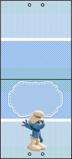 Smurfs: Free Printable Candy Bar Labels for Boys Party.