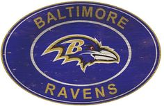Team spirit will fill your home when you proudly display this Baltimore Ravens heritage oval wall sign. Nfl Baltimore Ravens, Shop Fans, Nfl Logo, Team Logo, High Fashion Home, Mdf Wood, Logo Color, Black Decor, Juventus Logo