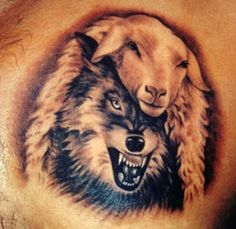 Wolf in sheeps clothing would make a sweet tattoo
