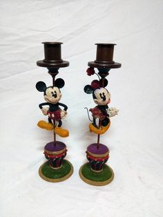 Mickey & Minnie Mouse taper candle holders Auth Disney Parks Retired rare | Collectibles, Disneyana, Contemporary (1968-Now) | eBay!