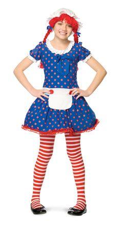 Niña con disfraz de muñeca