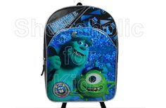 """Disney Pixar Monsters Inc. Backpack  *15"""" backpack * zipper closure * adjustable shoulder straps are padded for carrying * comfort padded back * contains small hang loop for locker or closet hanging. To order: http://www.shopaholic.com.ph/#!/Disney-Pixar-Monsters-Inc-Backpack/p/32058802"""