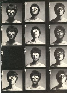 A Warhol-esque (maybe it is Warhol) photoshoot of John Lennon.