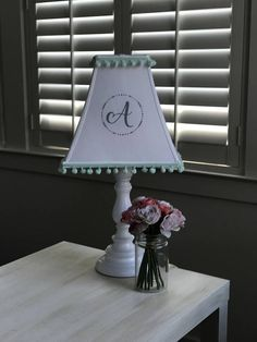 Customize a monogrammed lamp shade to fit your decor choose from customize a monogrammed lamp shade to fit your decor choose from fonts colors and mozeypictures Image collections