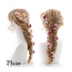 「. .  Gallery 304 . Order Made Works Original Hair Accessory for WEDDING . ⭐️ #髪飾り #結婚式 ⭐️ . #アンティーク な色合いの #ローズ の周りに #かすみ草 と小花をたっぷり敷き詰めて ボトムには 小花を散りばめた…」