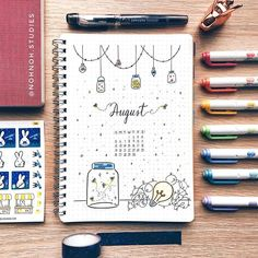 I'm back with an August cover page 😊 July has been so hectic for me that I wasn't able to bujo at all 😭 but I feel so refreshed with new…