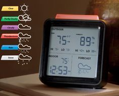 Pick the perfect outfit, before you leave the house. Wireless Weather Forecaster.
