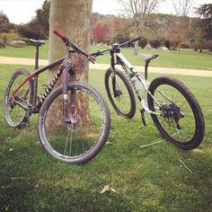 La Belle et la Bête #btt #mtb #cycling #bike #bkie #cannondale #niner #mountainbike
