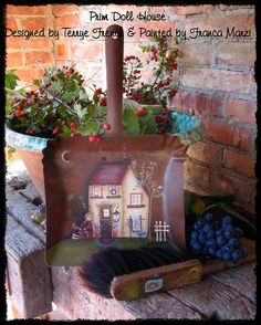 Prim Doll House - Painted by Franca Marzi, Painting With Friends E Pattern