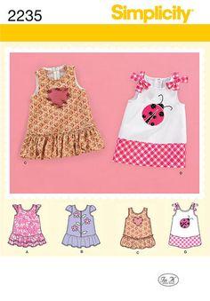 Simplicity Pattern 2235 Babies' Dresses