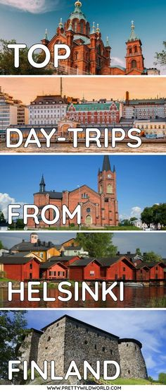 Helsinki is small but it doesn't mean you only have to see the capital! There are tons of day trips from Helsinki and here's a list of some of the best ones. Europe Travel Tips, European Travel, Travel Guides, Travel Destinations, Visit Helsinki, Finland Travel, Seen, Day Trips, Cool Places To Visit