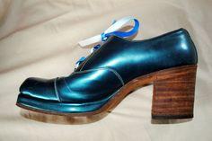 Stupendous Original Hand Made 1970s Platform Shoes