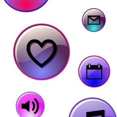 Glamour cell phone icon print design