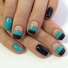 There are various materials out there for painting nail art. Marine nail art can cause you to look really cool. Acrylic nail art can definitely add to the woman's beautification. Marine Nails, Tricot D'art, Cute Nail Art Designs, Wedding Nails Design, Painted Nail Art, Sweater Nails, Christmas Nail Art, Holiday Nails, Nail Trends