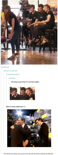 The internet will always have proof of the day the Doctor checked out Sherlock.
