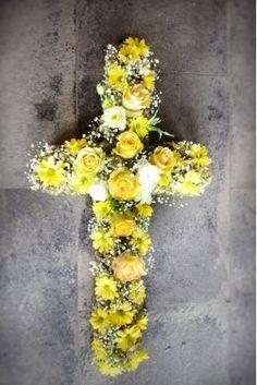 ჯვარი Crosses, Funeral, Flower Art, Floral Wreath, Wreaths, Flowers, Home Decor, Homemade Home Decor, Flower Crowns