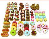 10 Surtido miniatura Petit Mini Pasteles, Dolls 1:06 escala alimento falso, Pastelería, kawaii, lindo, Panadería, Cafetería, Cake Shop, 3D, cabujones, Decoden