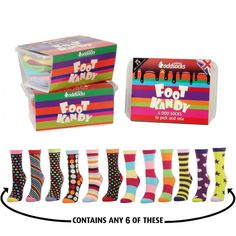 Oddsocks Foot Kandy Socks