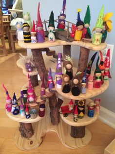 Me And My Gnomies — Old gnomes from the past. A handmade gnome house for our Waldorf friends to play! Wood Peg Dolls, Clothespin Dolls, Wood Toys, Waldorf Crafts, Waldorf Toys, Craft Activities For Kids, Crafts For Kids, Fairy Tree Houses, Gnome House