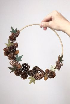 Handmade wall decorative wreath with autumnal color. Bohemian Christmas, Natural Christmas, Christmas Mood, Simple Christmas, Xmas, Holiday, Gingerbread Christmas Decor, Easy Christmas Decorations, Christmas Wreaths