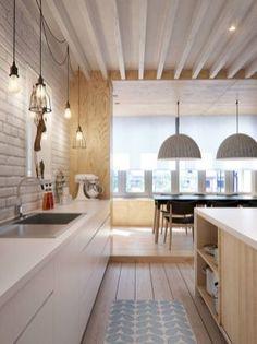 Scandinavian minimalism meets mid century interior – Trendland // kitchen / interior design / home Mid-century Interior, Interior Design Kitchen, Interior Architecture, Russian Architecture, Kitchen Designs, Retail Interior, Top Interior Designers, Interior Modern, Minimalist Interior