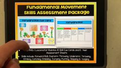 This PE assessment pack has rubrics, peer assessments and skill cue cards for all fundamental movement skills in a neat and visually attractive package Physical Education Activities, Elementary Physical Education, Elementary Pe, Pe Activities, Health Education, Peer Assessment, Pe Lessons, Cue Cards, Pe Teachers