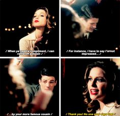 I have to say I'm not impressed by your more famous cousin - Kara and Barry, singing #TheFlash