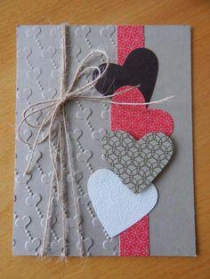 22 Valentinstag Basteln und Bastelideen Diy diy craft kits for adults Diy Valentines Cards, Valentine Day Crafts, Homemade Valentine Cards, Love Cards, Diy Cards, Tarjetas Diy, Heart Cards, Scrapbook Cards, Scrapbooking Layouts