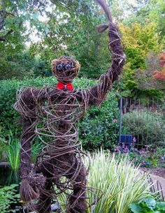 """Whether you're trying to keep critters out of the garden, or just celebrating the autumn harvest season, homemade """"yard people"""" are one of the easiest forms of                 ... See Moretemporary garden art.                     See Less"""