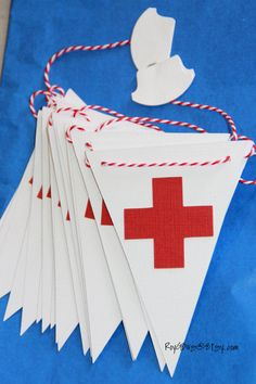 Red Cross  Nursing  Healthcare  Doctor  Party Banner