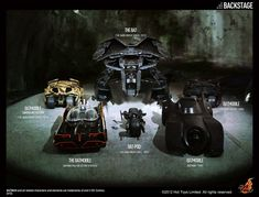 If anyone could loan me the money for these 1/6 scale Batman vehicles, I'd really appreciate it - Hot Toys Batman Series - Batmobiles