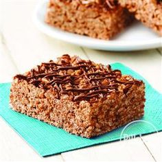 Chocolate Hazelnut Cereal Bars from Pillsbury® Baking are made with five delicious ingredients with no baking required!