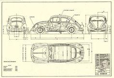 vw beetle blueprint - Pesquisa Google