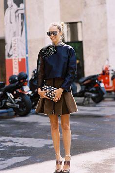 Vanessa Jackman: Paris Couture Fashion Week AW 2014....Candela Novembre #StreetStyle