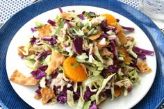 Chinese Chicken and Cabbage Salad (Shredded Red and Green Cabbage ...