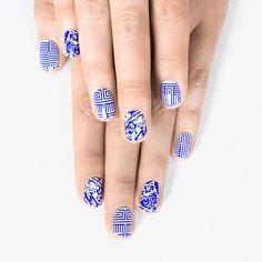 Alfa.K x Leslie David Nail Stickers featuring polyvore beauty products nail care nail treatments nail wraps
