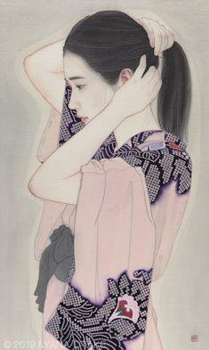 Watercolor Portraits, Watercolor Paintings, Japanese Geisha Tattoo, Geisha Art, Art Inspiration Drawing, Japanese Flowers, Japanese Aesthetic, Japanese Painting, Japanese Artists
