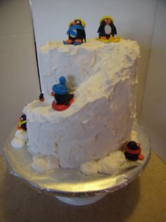 350 Degree Confections: It's Spring, but We Still Love Penguins! Blaze Cakes, 9th Birthday, Birthday Cakes, Construction Birthday Parties, Cake Decorating Techniques, Be Still, Penguins, Treats, Baking