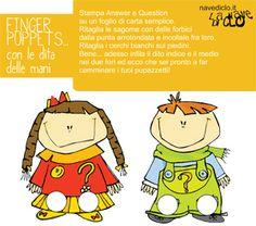 finger puppet, printable, children