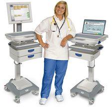 medical computer carts hospital computer stands healthcare computer workstations medical. Black Bedroom Furniture Sets. Home Design Ideas