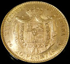 Spanish Gold Coins 1 x 1 x 1mm 1 carats Auction #2991 Coins Auctioned