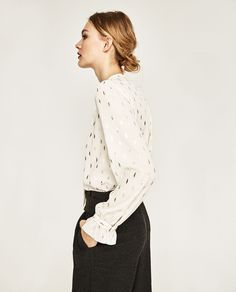 Image 3 of PRINTED BLOUSE WITH BOW from Zara
