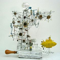 Yellow Submarine by PHILIPPE LE GALL #sculpture #kinetic #France
