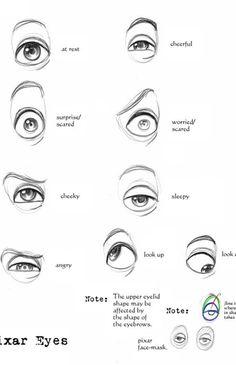 Pixar Eyes Reference