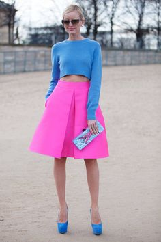 #style #stylish #pink #neon #blue #skirts #skirt #classy #pretty #fashion #pin #pins #repin #repost #pinterest