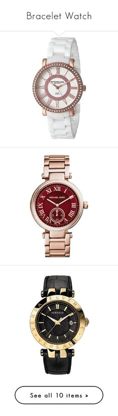 """""""Bracelet Watch"""" by lululafitte on Polyvore featuring jewelry, watches, dial watches, rose jewelry, white ceramic jewelry, ceramic jewelry, white watches, accessories, bracelets y rose gold"""