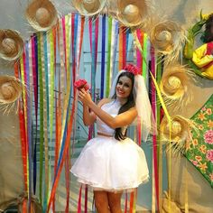 Saia de festa junina: 70 ideias + tutoriais para curtir o arraiá com estilo Paper Party Decorations, Birthday Party Decorations, Party Themes, Wedding Decorations, Diy Birthday, Birthday Parties, Mexican Bridal Showers, Easy Valentine Crafts, Azul Tiffany