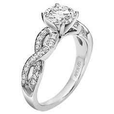 Infinity Engagement Ring like the band not how big the diamond is though--I like 3/4 carats