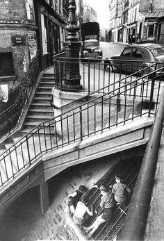 Carrefour rue Vilin - rue Piat - Belleville - 1959 -